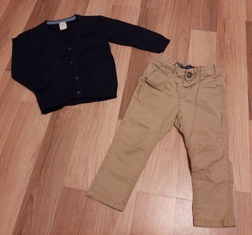 Komplet spodnie + sweterek rozm..86