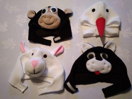 Czapki - kot, małpka, owieczka