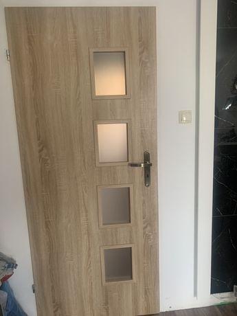 Drzwi 80 lewe dąb sonoma