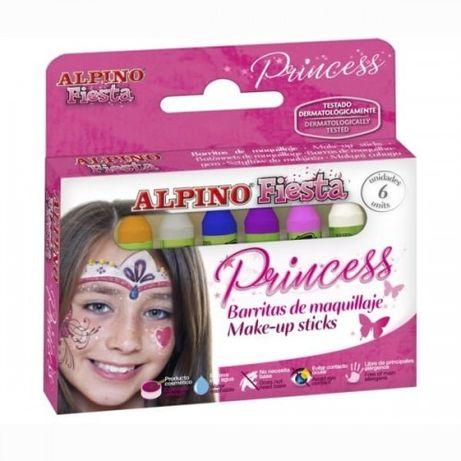 Profesjonalne Kredki do malowania twarzy ALPINO FIESTA 6szt.