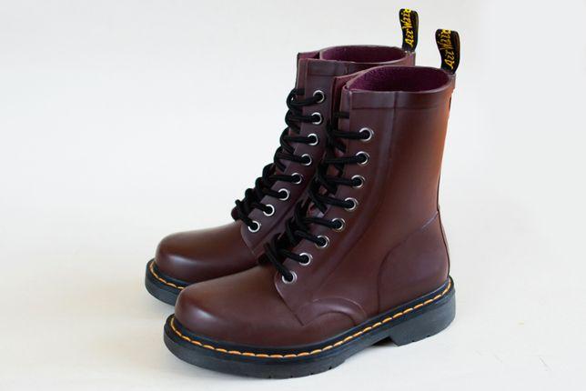 Ботинки сапоги Dr. Martens. резиновые hunter crocs. сделаны timberland