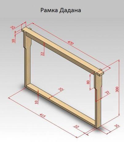 Выготовляю рамки для вуликів 300/145