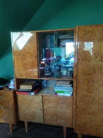 Meble drewniane czeczot zestaw do jadalni, salonu, sypialni lata 70
