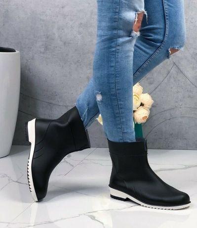 резиновые полусапожки ботинки сапоги