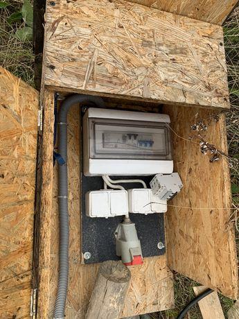 Skrzynka elektryczna budowlana (jedna budowa), Erbetka