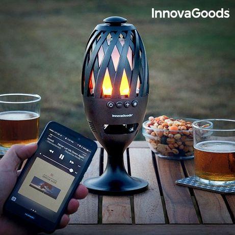 Candeeiro Tocha LED com altifalante Bluetooth Gadget Tech - NOVO