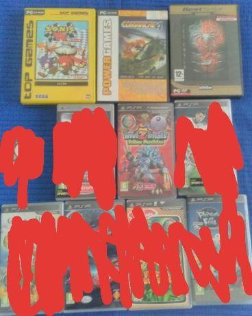 1 Jogos de PSP+ 3 Jogos de PC (vendo separadamente)