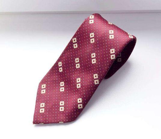 Krawat bordowy we wzory