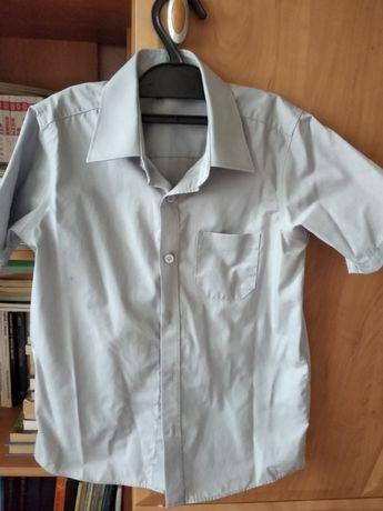 Рубашка школьная Marks and Spencer серая р.134 коротк рукав