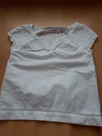 Biała bluzka roz. 128