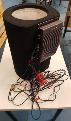Głośnik Subwoofer 180W wzmacniacz DAP 225 i okablowaniem
