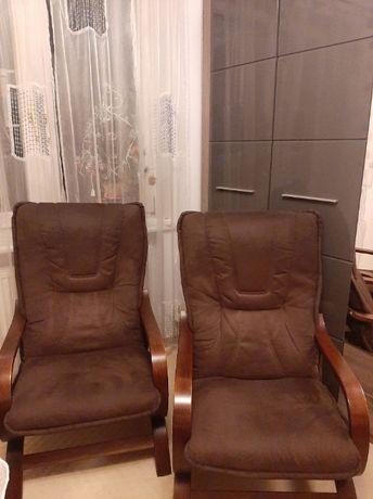 Krzesło brązowe fotel wypoczynkowy
