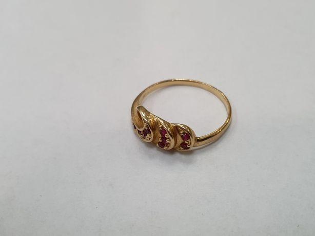 Klasyczny złoty pierścionek damski/ 585/ 1.6 gram/ R12/ sklep Gdynia