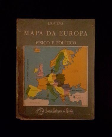 Mapa da Europa Físico e Político (J. R. Silva)