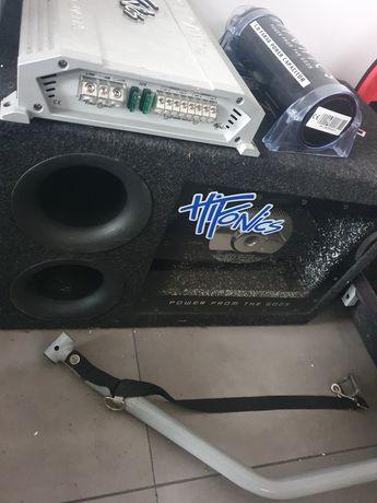 subwoofer Hifonics, wzmacniacz, kondensator