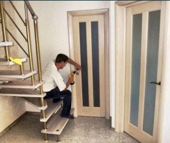 Установка, монтаж межкомнатных и входных дверей