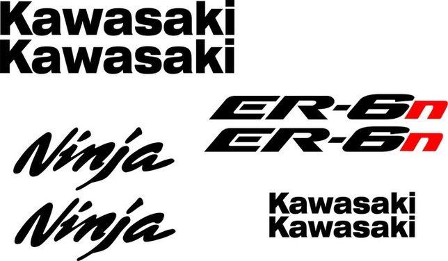 Naklejki KAWASAKI NINJA ER-6n na Motocykl Motor - Folia Długoletnia!
