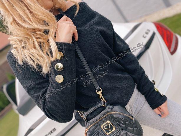 Sweterek oversize guziki BY ME