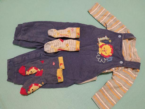 Komplet roz. 68 spodnie i body Fisher Price