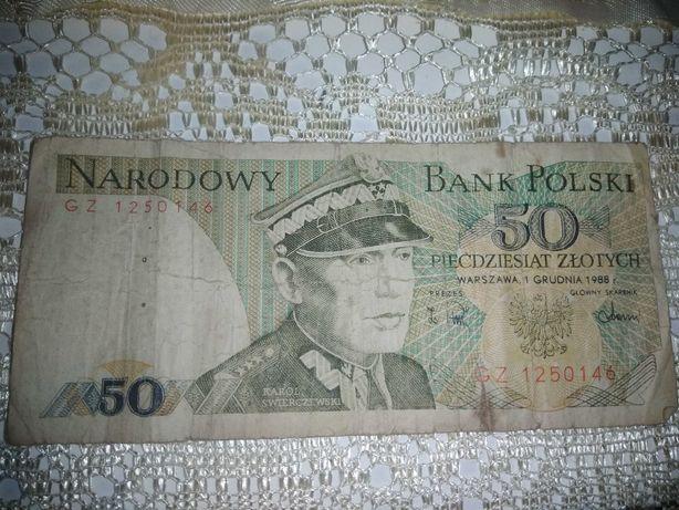 Banknot 50zl z 1988r
