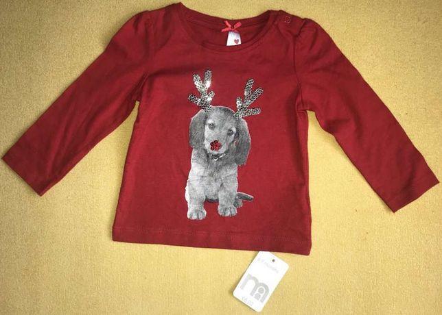 Nowa świąteczna bluzeczka Mothercare r.6-9 m.