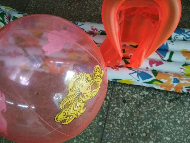 Детский пляжный набор.Матрас, жилет и мяч.