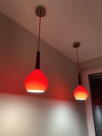 Lampa wisząca czerwona z firmy ALFA STAN IDEALNY