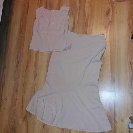 Komplet garsonka bluzka spódnica 42/ 44 stan bdb