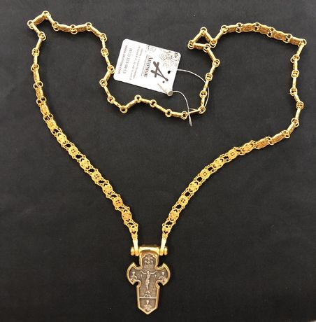 Цепь православная Акимов оригинал серебро и позолота