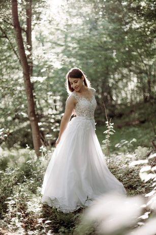 Suknia ślubna koloru ivory