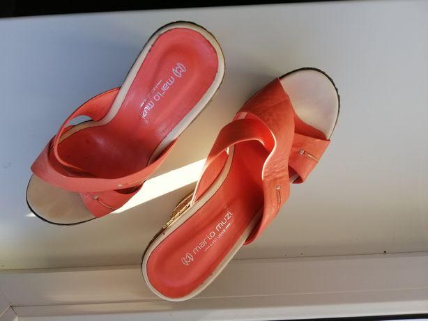 Туфли на танкетке, розовые, 38 размер