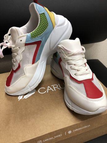 Кожаные кроссовки Caruso