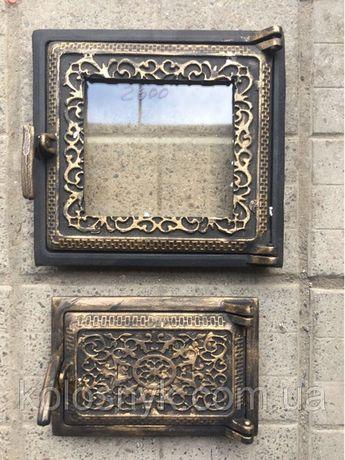 Дверца для печи и барбекю раздельные печные дверцы со стеклом чугунные