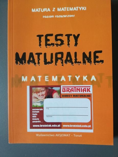 Matematyka rozszerzona testy maturalne