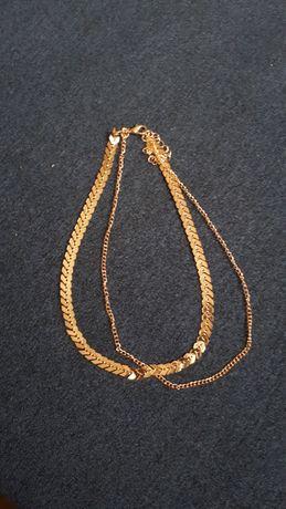 Nowy złoty chooker naszyjnik krótki