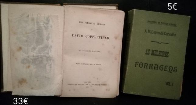 Livros antigos David Copperfield,medicina e outros