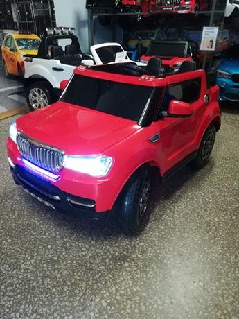 Samochód SUV RED na akumulator dla dzieci z pompowanymi kołami