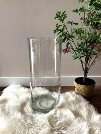 Duży szklany wazon