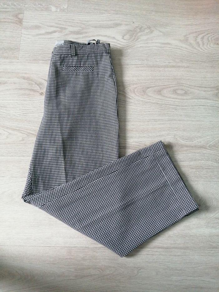 Spodnie damskie  wizytowe/kratka r 42 Nowogrodziec - image 1