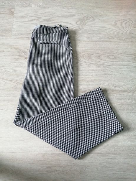 Spodnie damskie  wizytowe/kratka r 42