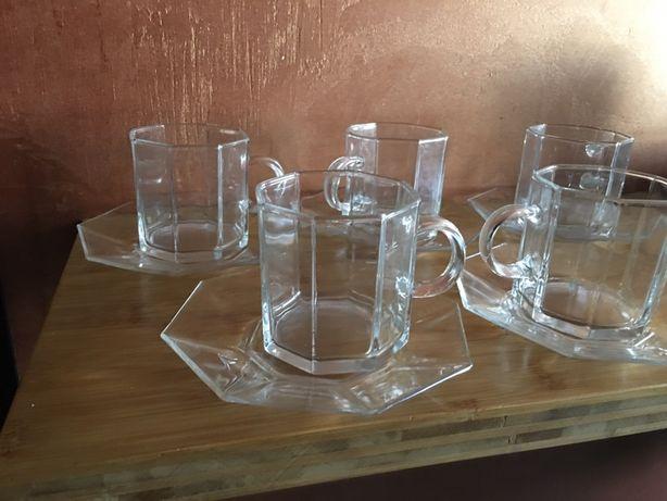 Filiżanki szklanki 4 szt