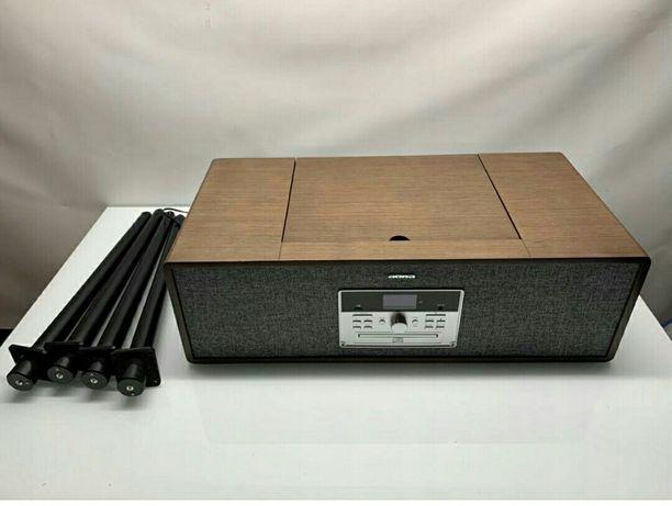 Gramofon retro Radio CD USB głośnik auna Niemcy stolik nowe -50%