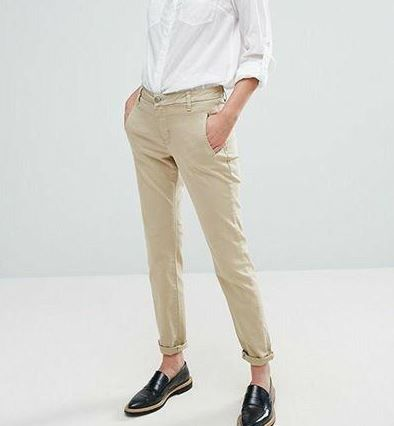 Элегантные песочные штаны H&M