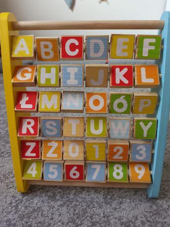 Drewniany alfabet abecadło tablica