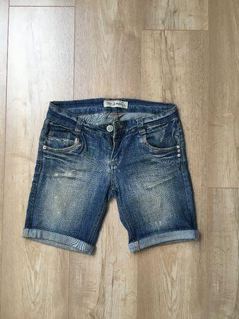 Krótkie jeansowe spodenki z regulacją długości, TERRANOVA, XS