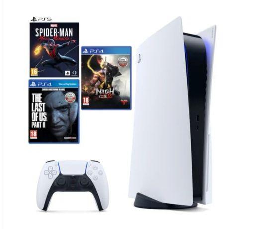 PlayStation 5 + 3 gry, NOWA