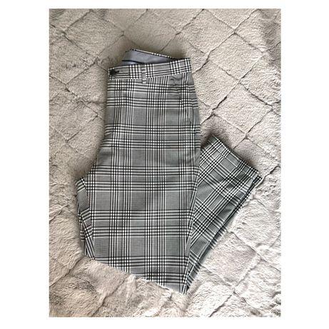 Długie spodnie w kratę Zara