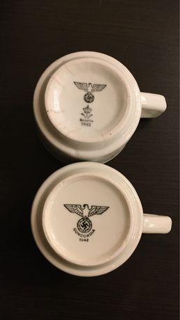Кофейные чашки Вермахта. Третий Рейх, свастика.