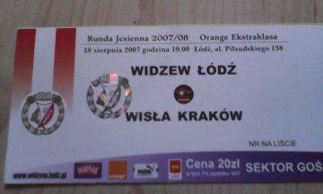 Widzew Łódź -Wisła Kraków 18 sierpnia 2007