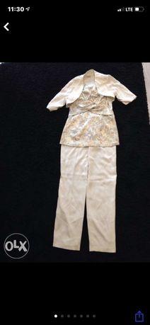Elegancka tunika z bolerkiem i spodnie -Strój na chrzest komunie
